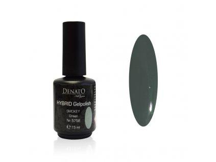 5758 Hybrid Gelpolish smokey3 green zelený uv led gel, 15 ml
