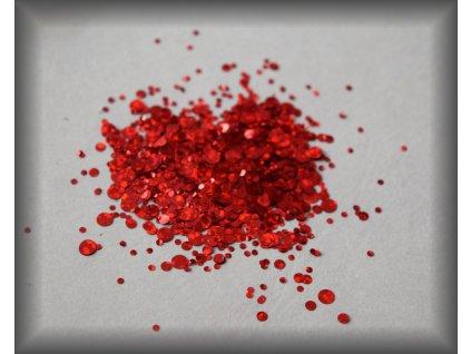 Red Flakes  Třpytky a Glitry