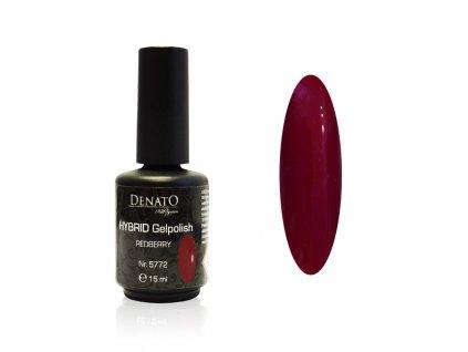 5772 Hybrid Gelpolish Redberry červený uv led gel, 15 ml