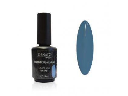5781 Hybrid gelpolish Jeans Blue modrý uv led gel 15 ml