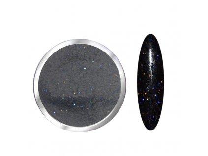 1700 Black diamond, glitrový černý polymer