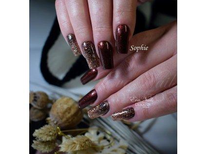 5308 Sophie barevný uv led gel čokoládové barvy