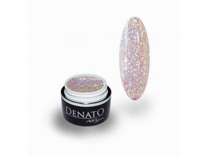 4010 Sensation barevný glitrový uv led gel stříbrný