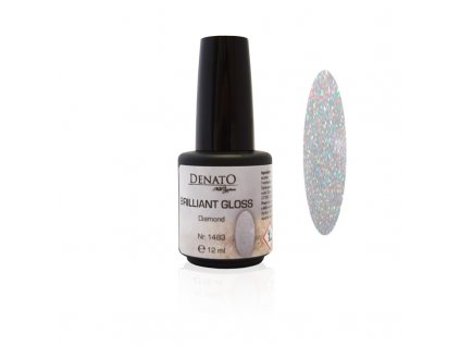 BRILLIANT Gloss Diamond vrchní UV LED lesk bezvýpotkový s třpytkami