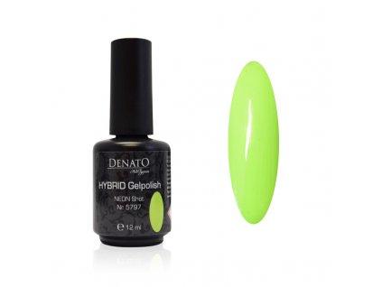 5797 Hybrid Gelpolish neon shot neonový zelený uv led gel, 15 ml