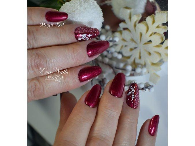 3060 Magic Red barevný perleťový uv led gel červený