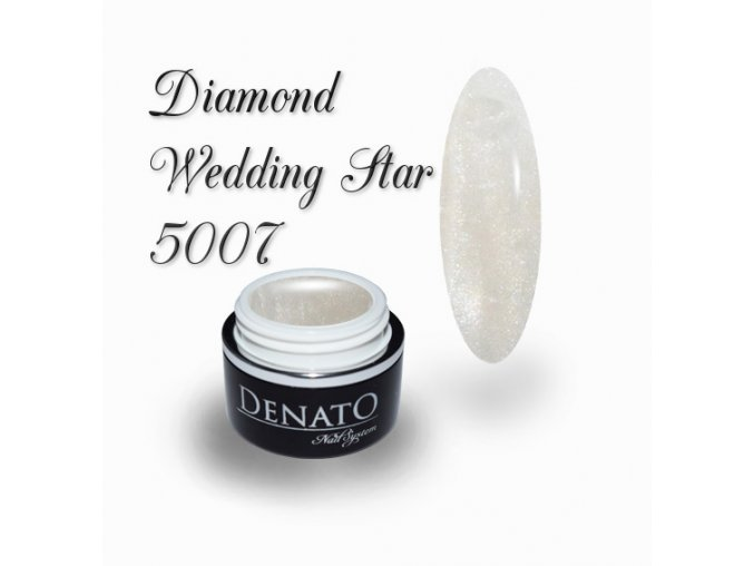 5007 diamond wedding star barevný uv led gel bílo stříbrný