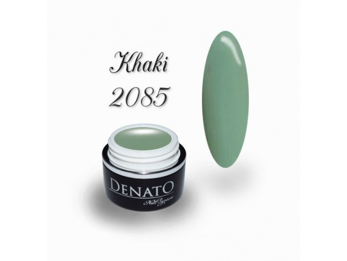 2085 Khaki barevný uv led gel zelený