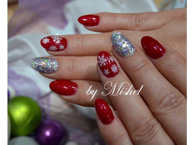 PF10 Perfect Line 10 barevný uv led gel bezvýpotkový červený.perleťový