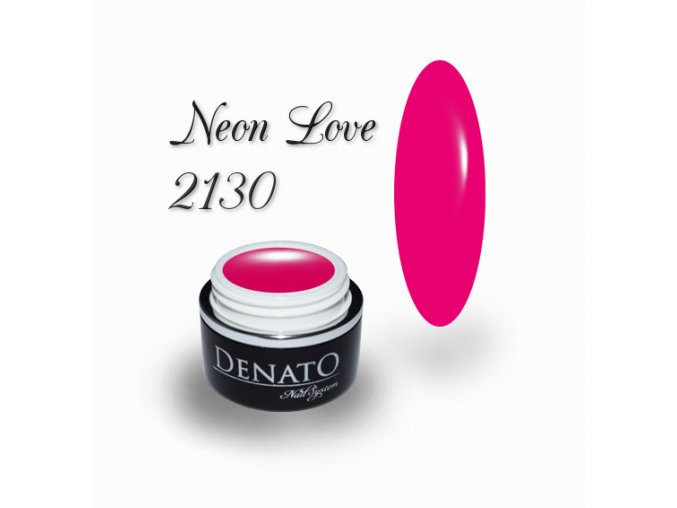 2130 Neon Love barený uv led gel neonový růžový