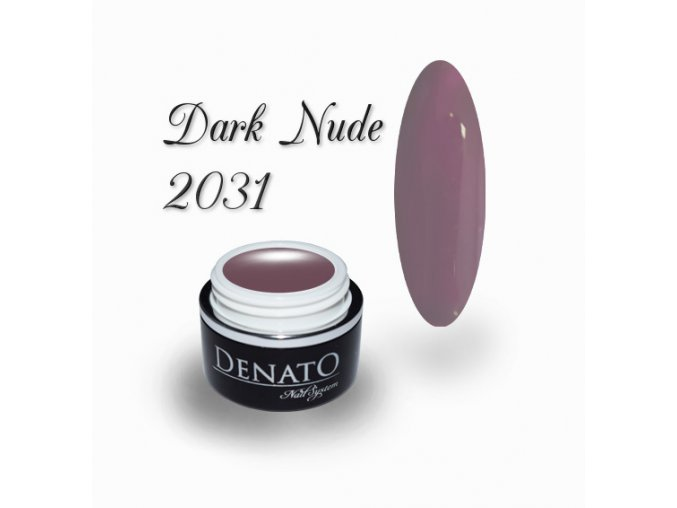 2031 dark nude barevný uv led gel nude