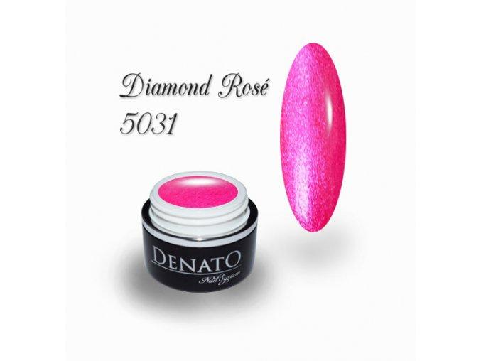 5031 Diamond Rosé barevný uv led gel neonový růžový perleťový