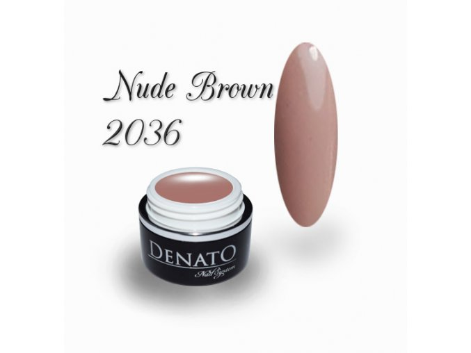 2036 nude brown barevný uv led gel nude