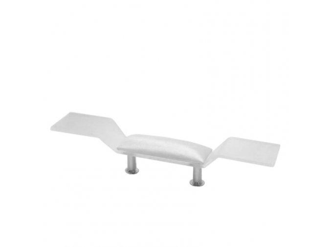 web opěrka pod ruce standart s policemi, barva bílá