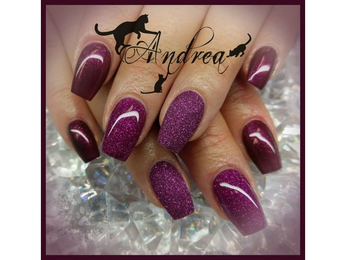 5041 Diamond Lilla Rosa, barevný uv led gel s diamantovým efektem, růžový fialový