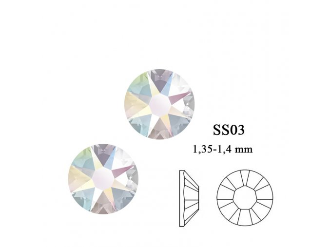 9002 Swarovski Crystal AB SS03