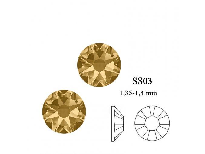 9004 Swarovski Light Colorado topaz SS03