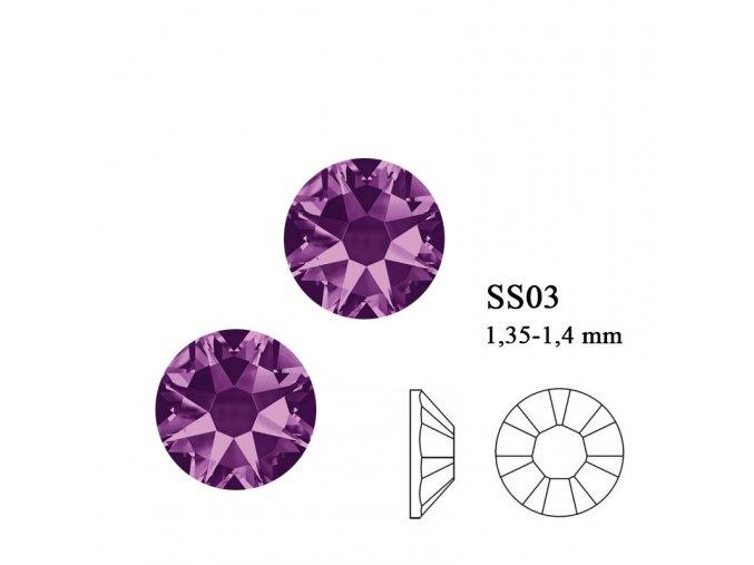 9009 Swarovski Amethyst SS03