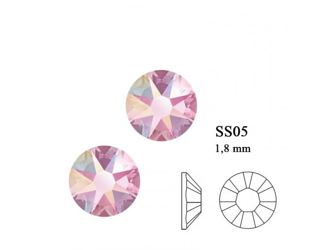 9203 Swarovski Light Rose AB SS05