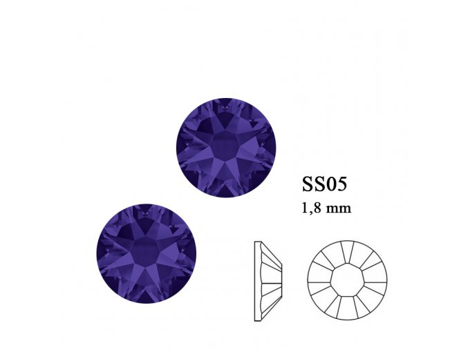 9208 Swarovski Purple velvet SS05