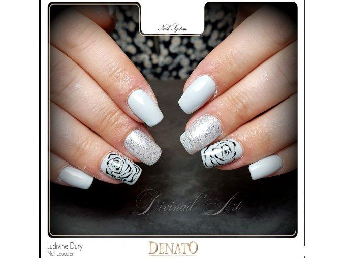 2100 Silky Grey barevný uv led gel šedý