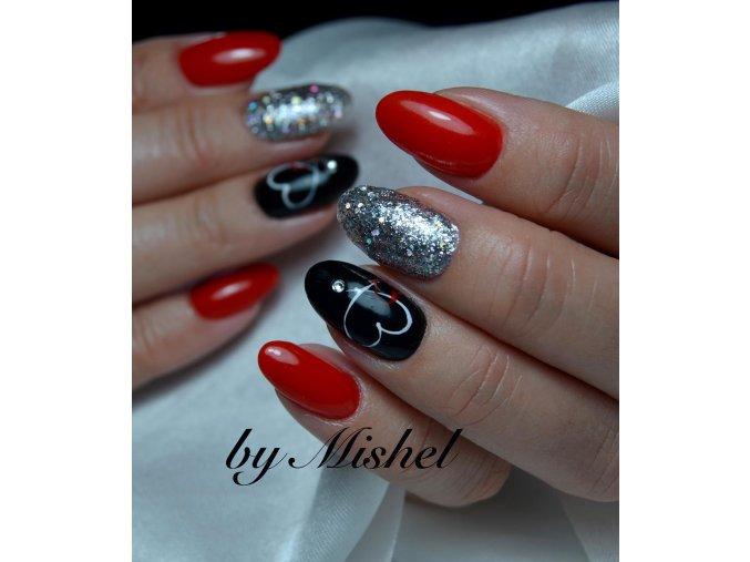 2141 Luxury Black, barevný uv led gel černý, gel na folie