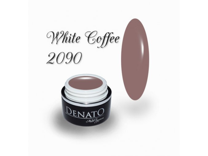 2090 White coffee barevný uv led gel nude