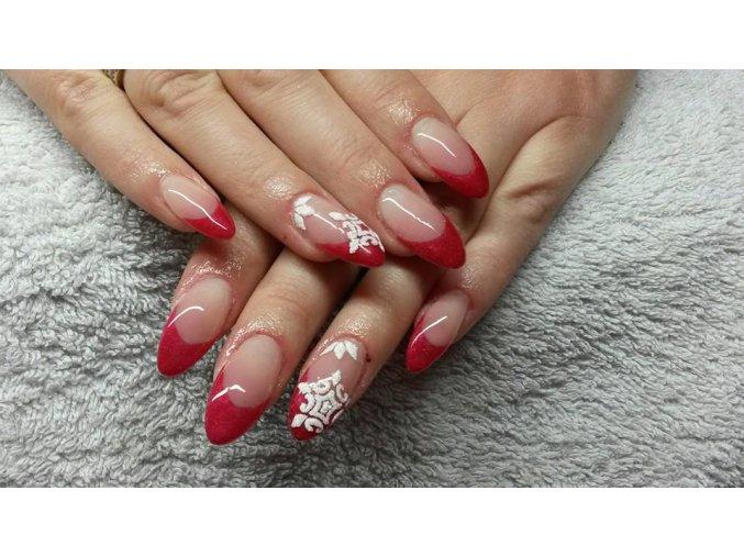 5026 Diamond Cranberry de lux, barevný uv led gel s diamantovým efektem, růžový