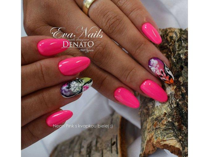 2023 Neon Pink barevný uv led gel neonový růžový