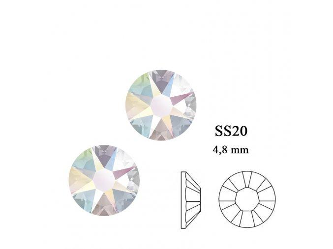 9271 Swarovski Crystal AB SS20
