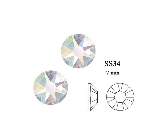 9281 Swarovski Crystal AB SS34