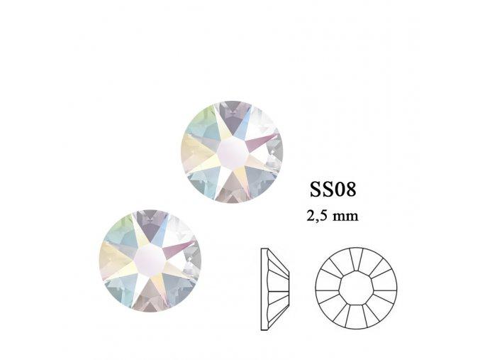9241 Swarovski Crystal AB SS08