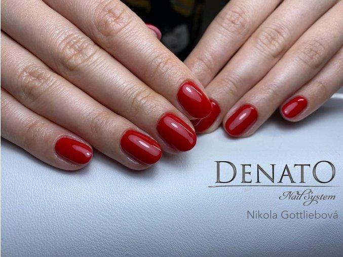 2064 DELUXE Red barevný uv led gel červený