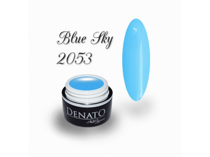 2053 Blue Sky barevný uv led gel modrý
