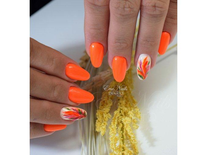 3159a Neon orange pearl barevný uv led gel neonový perleťový oranžový