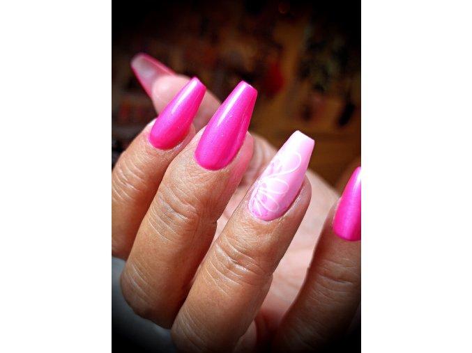 2524 Flop Magenta Violet barevný efektový uv led gel