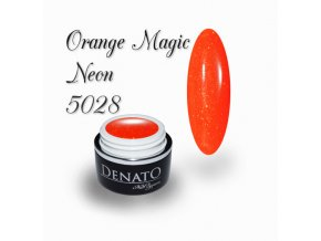 5028 Diamond Orange Magic, barevný uv led gel s diamantovým efektem, oranžová
