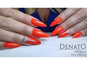 5028 Orange Magic Neon barevný glitrový uv led gel oranžový neonový