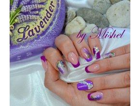 2159 NEON Lilac, neonový fialový barevný uv led gel