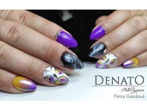 Perfect Line 01, bezvýpotkový barevný uv led gel, žlutý
