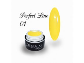 PF01 Perfect Line 01 barevný uv led gel bezvýpotkový žlutý
