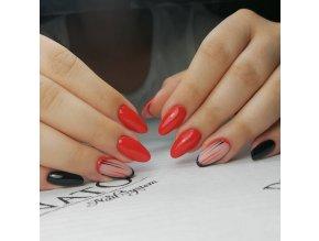 Perfect Line 03, bezvýpotkový barevný uv led gel, červený