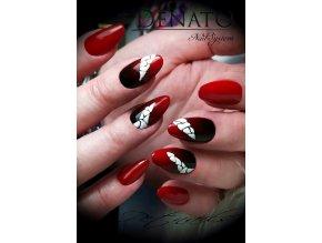 Perfect Line 07, bezvýpotkový barevný uv led gel, červený