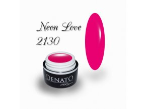 2130 Neon Love barený uv led gel neonový růžový