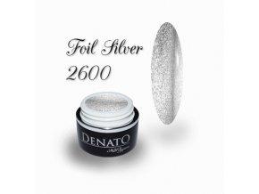 2600 Foil gel Silver barevný uv led gel stříbrný perleťový na folie