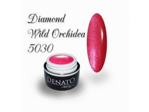 5030 Diamond Wild orchidea, barevný uv led gel s diamantovým efektem, červený