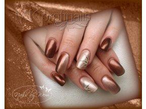 3131 Dainty Chocolate, perleťový barevný uv led gel hnědý