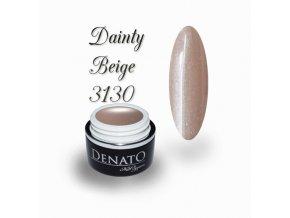3130 Dainty Beige, perleťový barevný uv led gel béžový