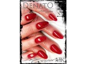 4061 Red glitter, glitrový barevný uv led gel červenýý