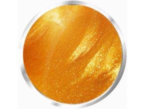 4125 Luxury gold fine, glitrový zlatý barevný uv led gel